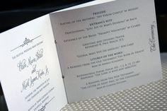 Wedding Programs or Welcome Books Wedding by lemonseedandco