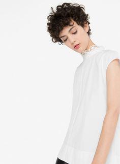 Camisa oversize cuello joya - Ver todo - Última semana - Uterqüe España