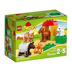 Lego Duplo - Los Animales De La Granja;  Divertido Set con animales de granja. Le encantará imitar los sonidos que hacen los distintos animales, y disfrutarán construyendo el cobertizo con los bloques DUPLO de llamativos colores. Además hay una gran flor que los animales pueden oler y mordisquear... En   http://www.opirata.com/lego-duplo-animales-granja-p-25876.html