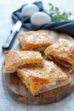 Sfizioso #rustico di #pastasfoglia ripieno al prosciutto cotto e provola #ricetta #tortasalata #antipastisfiziosi #ricetteveloci