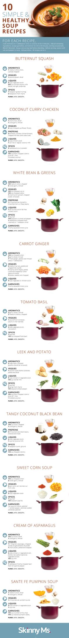 10 Simple and Healthy Soup Recipes