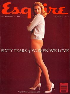 Magazine photos featuring Esquire Magazine [United States] (August on the cover. Esquire Magazine [United States] (August magazine cover photos, back issues and newstand editions. Balayage Brunette, Balayage Hair, Vintage Hollywood, Classic Hollywood, Hollywood Stars, Angie Everhart, Angie Dickinson, New Star, Vintage Magazines