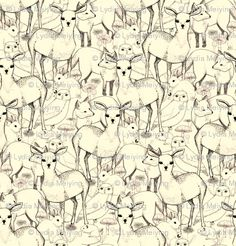 Spoonflower woodland fabric
