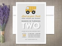 Dump Truck Construction  Birthday Party by rockpaperdove