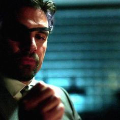 Arrow - Manu Bennett  as Slade Wilson  This picture is so perfect.