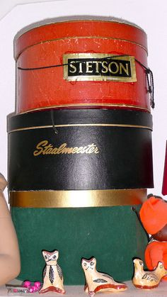 Stetson and Staalmeester vintage hat boxes