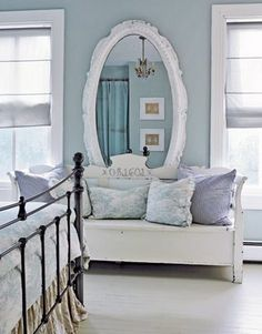 The lavender and teal/mint blue room Audra did not get.  Love, love this combo.  Hopefully when she is 13 we can redo her room and she will want it my way again!