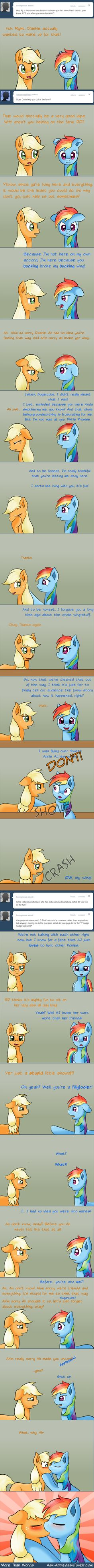 I only pin this to prove that Rainbow Dash was not a boy, not paying attention to the part where they kissed.