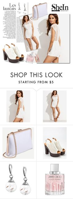 """""""SheIn 3/4"""" by melissa995 ❤ liked on Polyvore featuring Jimmy Choo and Dolce Vita"""