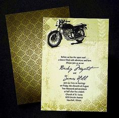 Unique Wedding Invitations Feature A Motorcycle Bike Theme. Open Road  Invitation Item By The Office Gal Carlson Craft