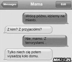 Rodzice pff ( debile ) Funny Sms, Funny Text Messages, Wtf Funny, Funny Texts, Funny Jokes, Funny Images, Funny Pictures, Hahaha Hahaha, Polish Memes