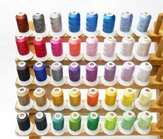 Amazon.com: Simthread 40 Spools Polyester Embroidery Thread Set Brilliant Colors for Home Embroidery Machines 500m/spool