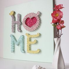 HOME String Art by mintiwall │ ★ String Art ★