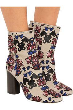 Isabel MarantGuya embroidered suede boots