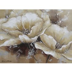 Yosemite Home Decor Revealed Art 'Full Bloom I' By Unknown Original Painting on Wrapped Canvas