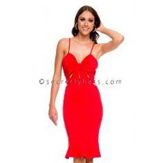 Femme Fatale Dress in Red