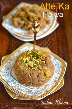 Classic Atte Ka Halwa or Wheat Flour Halwa is popular North Indian dessert made with minimal ingredients and taste delicious.  Also known as Kada Prasad in gurudwara