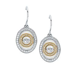 14k White Yellow Gold Earrings