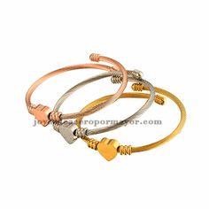 pulsera de cable con corazon en tres color -SSBTG582531