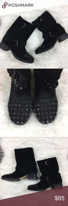 Kurt Geiger spike studded Suede Ankle Boots New without box, store Display Shoes- may have minor scuffs and blemishes Kurt Geiger Shoes Ankle Boots & Booties