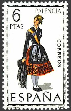Collection of Spanish stamps: 1970 Palencia Spanish Costume, Stamp Values, Regional, Postage Stamp Collection, Postage Stamp Art, Love Stamps, Traditional Fashion, Folk Costume, Stamp Collecting