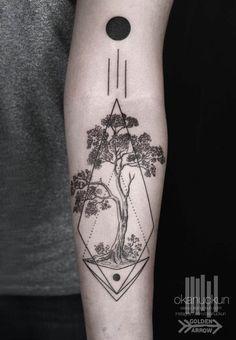 Striking Geometric Blackwork Tattoos by Okan Uçkun