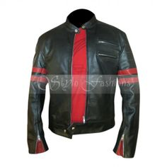 Fight Club Retro Hybrid Mayhem Bred Pit Black Leather Jacket is a clothing article that vitalizes and enhances your complete looks.This jacket has a fully zipped front with a snap-tab moto collar making you look bold and stylish. This jacket also has padded detail over the shoulders and at the upper part of the sleeves. At the sleeves has created red color double stripes and zippered closing cuffs to make appearance bold and confident.