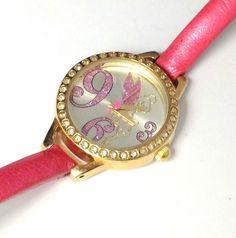 Disney Tinker Bell Women's Watch Two-tone, Crystal accent bezel, Pink Strap 24MM #Disney #CartoonIdol