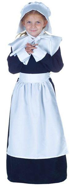Costumes! Deluxe Thanksgiving & Colonial Pilgrim Girl Costume Set  #UR #Costume
