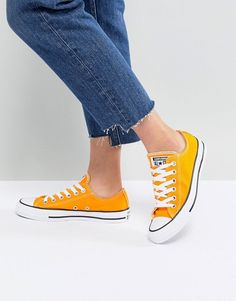 7c963126222 Converse Chuck Taylor All Star Ox Trainers In Orange. Sneaker HeelsHigh Heel  ...