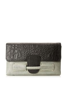 67% OFF Stella & Jamie  Women's Zurra Clutch, Black/Cobra Grey