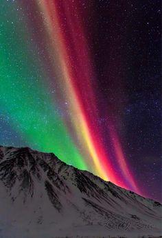 Aurora rainbow Alaska