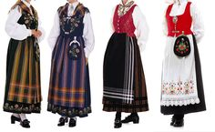 Norwegian Folk Costumes from different regions of Norway - MadeinNorwayNow
