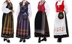 Norwegian Folk Costumes from different regions of Norway - MadeinNorwayNow