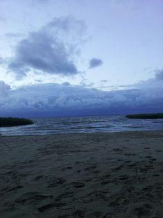 Gewitter Strand  Meer.  Bellin bei Ueckermünde