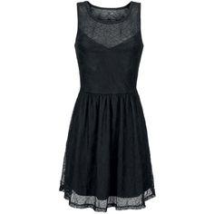 Kleid von Gothicana by EMP: - mit Spitze im Spinnennetz Design - Rundhals - ärmellos - Gummizug in der Taille - schwingender Saum Du suchst nach konventionellen und schlichten Outfits? Dann ist das Spiderweb Skater Dress von Gothicana by EMP definitiv nichts für dich. Denn das Kurze Kleid hat einen coolen, düsteren Oberstoff aus Spitze in Form kleiner Spinnennetze. Ein einfaches schwarzes Unterkleid sorgt für Blickdichte.