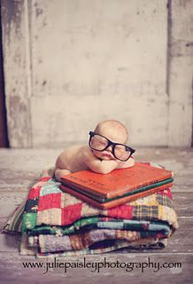 Little bookworm in the making!