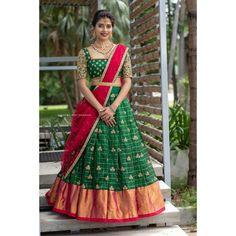 Indian Dress Up, Indian Fashion Dresses, Indian Gowns Dresses, Indian Wear, Indian Outfits, Prom Dresses, Half Saree Designs, Lehenga Designs, Saree Blouse Designs