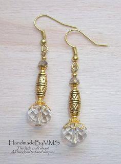Classy Swarovski crystal earrings Dangle earrings by HandmadeByMMS