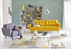 Look vintage Envie de réveiller sa déco ? Troquez votre vieux canapé pour un modèle au style vintage, hyper tendance. On aime l'audace de sa couleur jaune moutarde, qui met un coup de soleil dans la pièce, et ses lignes épurées et symétriques ainsi que ses pieds fuselés, typiques des années 60. Pour le mettre en valeur, ne cédez pas à la tentation du total look rétro. Mélangez-le avec ...