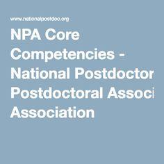 NPA Core Competencies - National Postdoctoral Association