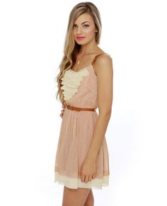 Gold Dust Woman Blush Dress... swooning over the gold flecks in the pink chiffon!