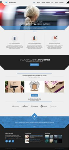 Cleanstart is a multipurpose but mainly business oriented design based on fine typography and large photography that can serve as a foundation for your creative projects. #website #template #business