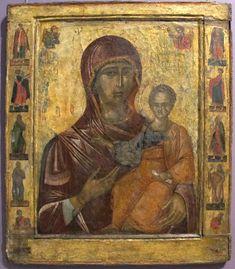 Vallacchia, icona processionale con madonna hodegetria tra profeti, 1512-13, da vallacchia - Odigitria - Wikipedia