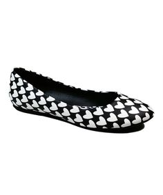 This Black & White Heart Halo Ballet Flat by Dollhouse is perfect! #zulilyfinds