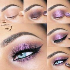 24 Purple Smokey Eye Makeup Ideas to Open the Party Season ★ Purple Smokey Eyes Tutorials picture 2 ★ See more: http://glaminati.com/purple-smokey-eye/ #makeup #makeuplover #makeupjunkie #smokeyeyes #makeuptutorial #eyemakeup #eyemakeupideas #eyemakeupsmokey