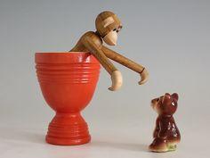 Vintage Hankscraft Fiesta Go-Along Egg Cup  by EightMileVintage