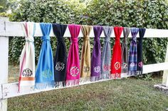 Every girl needs at least one monogrammed scarf!  Initial Outfitters Soft as Cashmere Scarf $20