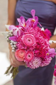 Berry pinks and purple bouquet