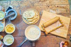 Hummus a naan